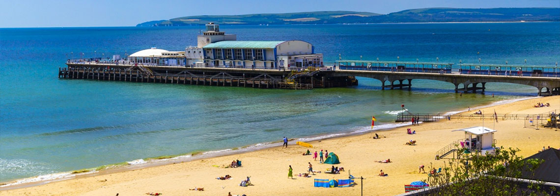 Visit Bournemouth pier while camping in Dorset