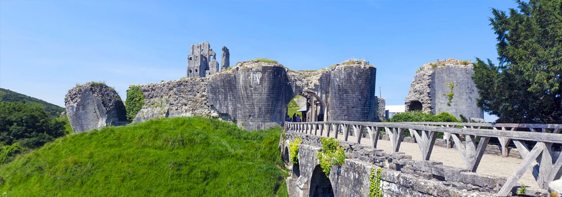 Visit Corfe Castle from this Jurassic Coast camping site in Dorset